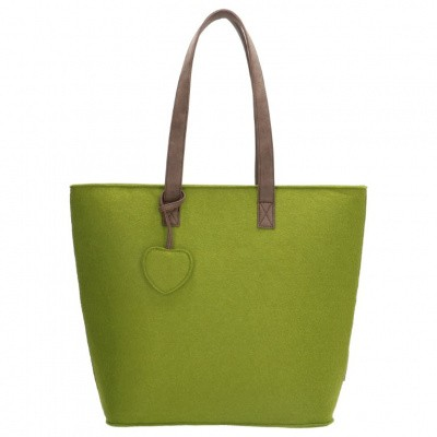 Beagles Dames Vilten Shopper 17536E-Groen