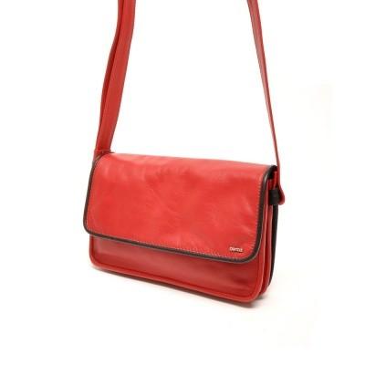 Foto van Berba Soft 005-562 Flap Bag Small Red-Black