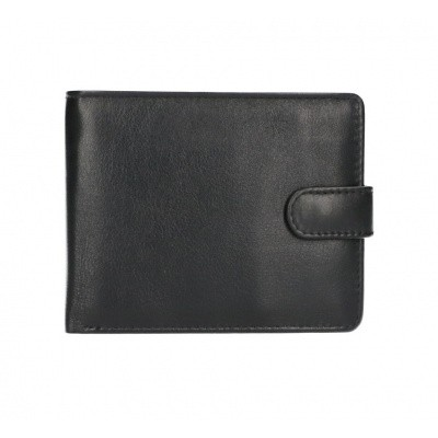 Leather Design Billfold AK 2154 Zwart