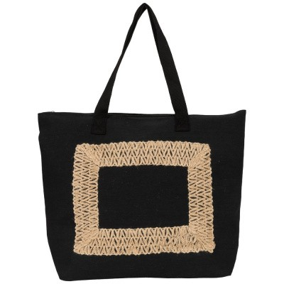 Foto van Malique Jutte Shopper Embroidery 370 Zwart