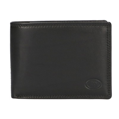Leather Design Billfold AH 443 Zwart