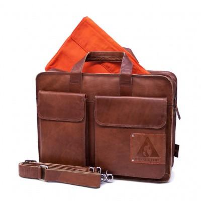 Foto van Orange Fire Laptoptas OF 174 Cognac