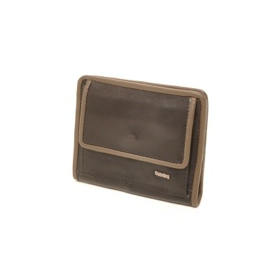 Berba Soft 001-411 Ladies Billfold Black-Taupe