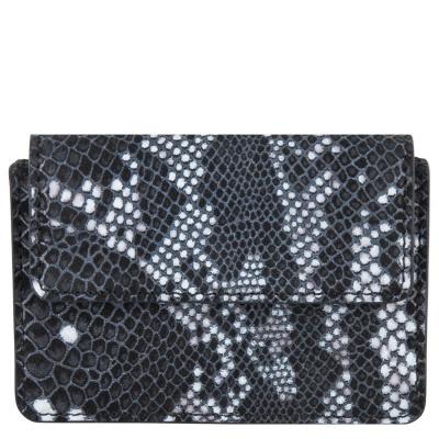 Foto van Cowboysbag x Bobbie Bodt, 3055 Wallet Peridot Snake Black and White