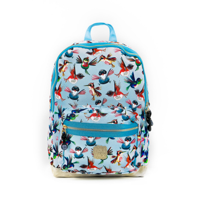 Pick & Pack Birds Backpack M Dusty Blue