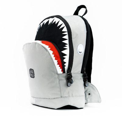 Foto van Pick & Pack Shark Shape Backpack M Grey