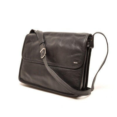 Berba Soft 005-575 Flap Bag Large Black