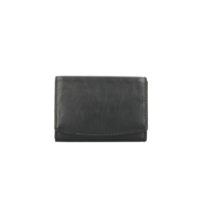 Foto van Leather Design Bak Portemonnee Drukker AK 2543 Zwart