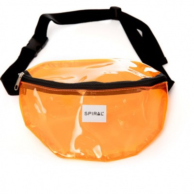 Spiral Bum Bag Transparent - Orange