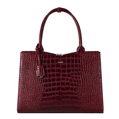 Foto van Socha Businessbag Crocodile Burgundy - 14