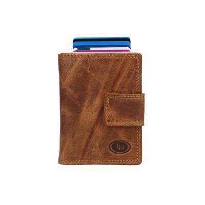 Leather Design Billfold voor Cardprotector HU 2924/1 Bruin