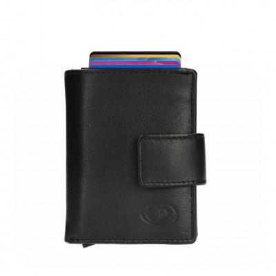 Foto van Leather Design Portemonnee voor Cardprotector KA 2924/1 Zwart