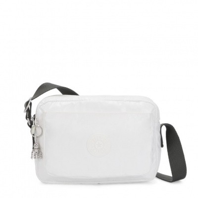 Kipling Abanu M Crossbody White Metallic