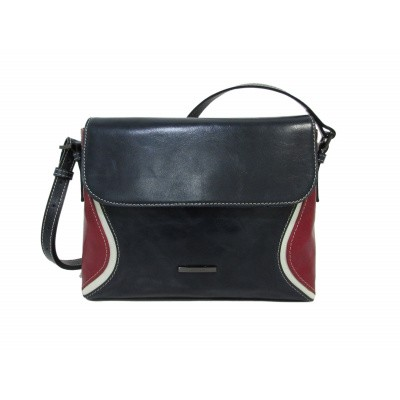 Foto van Claudio Ferrici Quatro Stagioni Shoulderbag 23001 Navy/Red