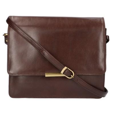 Leather Design Schoudertas CC 1157 A Bruin