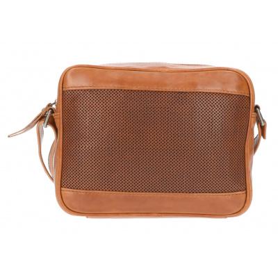 Foto van Leather Design Schoudertas DO20-821 Tobacco