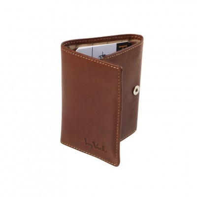 Foto van Tony Perotti - Furbo Pure Mini portemonnee met bankbiljet-kleingeldvak - Donker Bruin