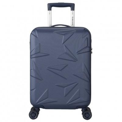 Foto van Decent Q-Luxx Spinner Handbagage Trolley 55 cm RK-7501A Donker Blauw
