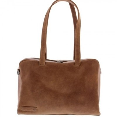 Plevier Dames Laptoptas 'Moray' 14 inch 703 Cognac