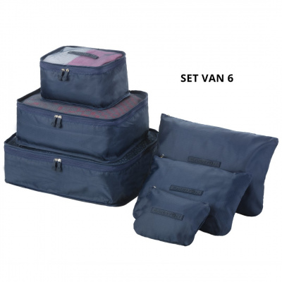 Foto van CarryOn Packing Cubes set of 6 pcs 505005 Blue