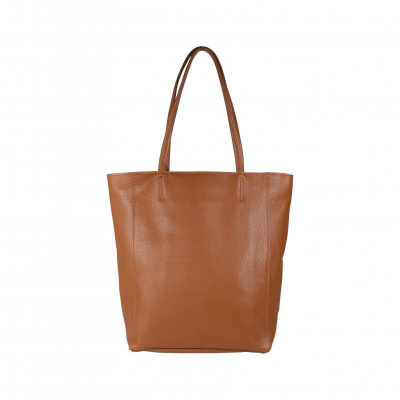 Foto van Baggyshop 'Leather paperbag' Schoudertas - Cognac