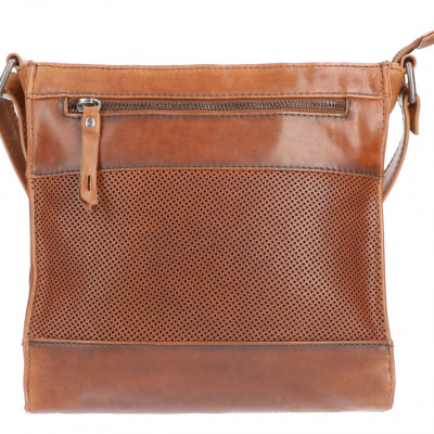Foto van Leather Design Schoudertas DO20-1419 Tobacco