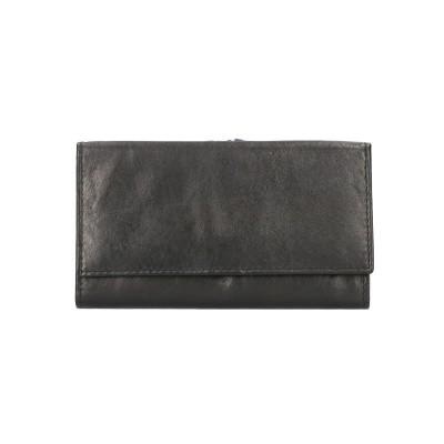 Leather Design Dames Portemonnee CN 111 Zwart