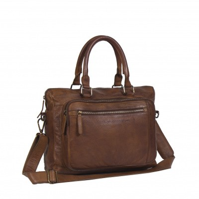 Chesterfield Laptop tas 'Maison' C48.0758 Cognac