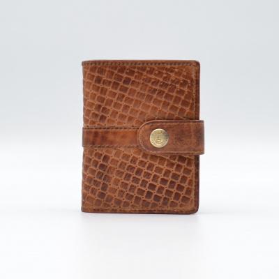 Foto van Leather Design Portemonnee voor Cardprotector KA 2924/1 Weaving Cognac