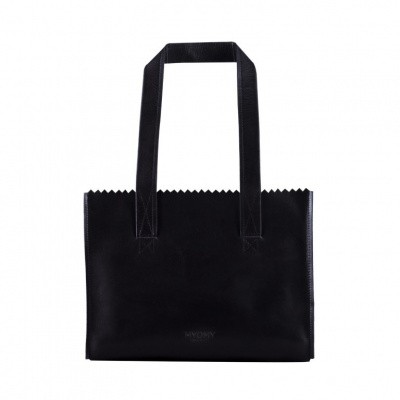 MYOMY MY PAPER BAG Handbag - Hunter Jet Black