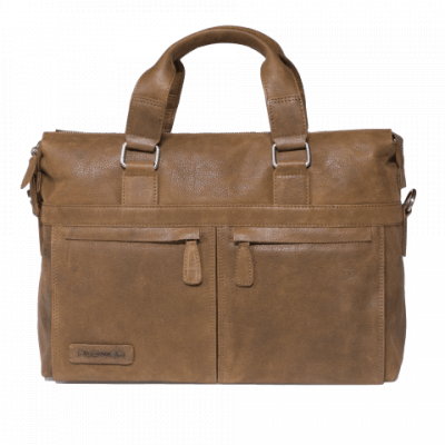 Plevier Laptoptas 'Shoreditch' 15.6 inch 472 Cognac