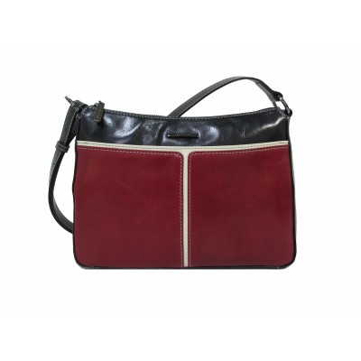 Foto van Claudio Ferrici Quatro Stagioni Shoulderbag 23009 Navy/Red