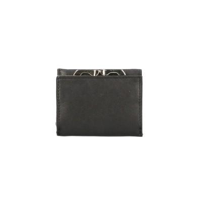 Leather Design Dames Portemonnee CN 213 Zwart