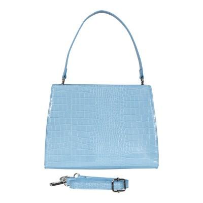 Malique Croco Handtas 1137 Licht Blauw