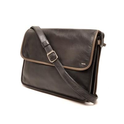 Foto van Berba Soft 005-575 Flap Bag Large Black-Taupe