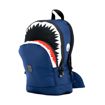 Pick & Pack Shark Shape Backpack M Navy