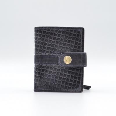 Foto van Leather Design Portemonnee voor Cardprotector KA 2924/1 Weaving Blauw