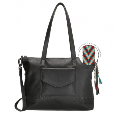 ​MicMacBags Dames Shopper Friendship 18661 Zwart