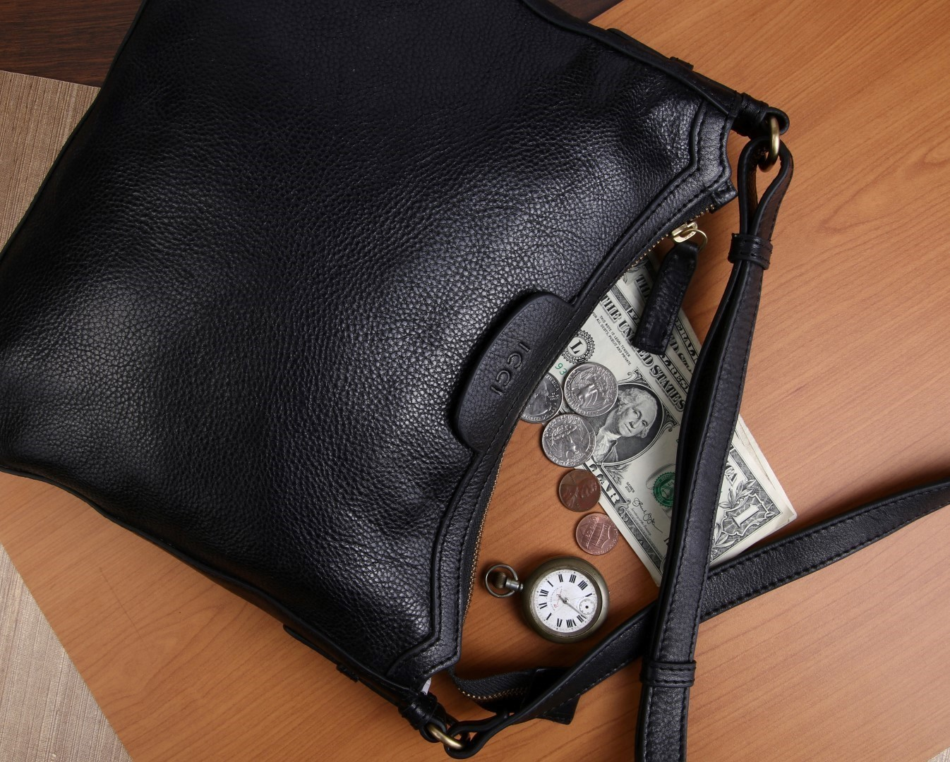 10ce3d35a67 Afbeelding van ICCI Zip Bag Medium 62011 Black
