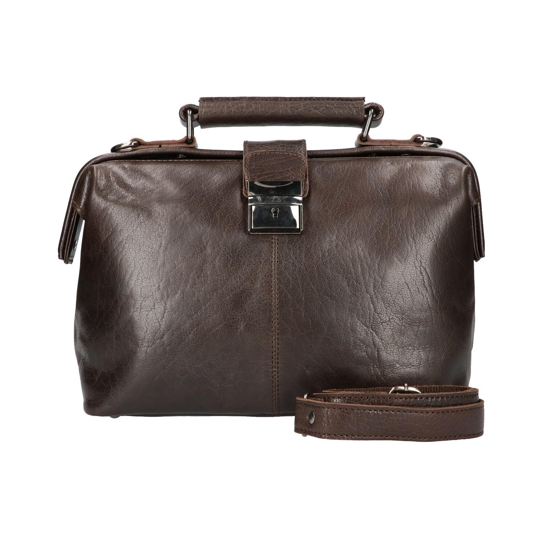 Leather Design Dokterstas IS 502 Donker Bruin