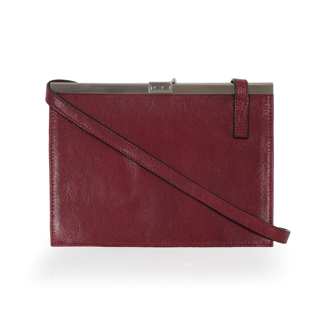 ICCI Metal Strip Bag 62059 Burgundy