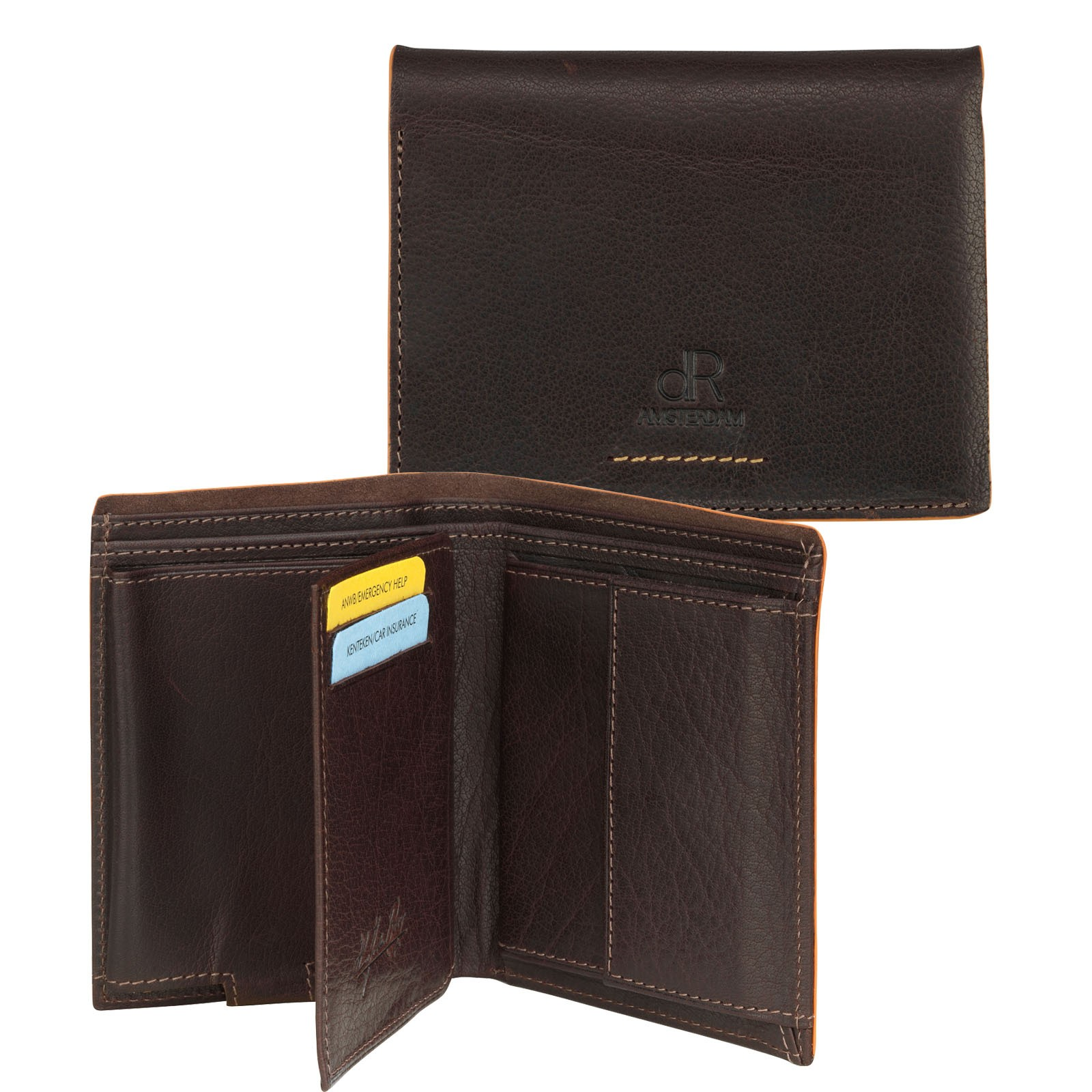 dR Amsterdam Wallet CC Comp 91513 Brown
