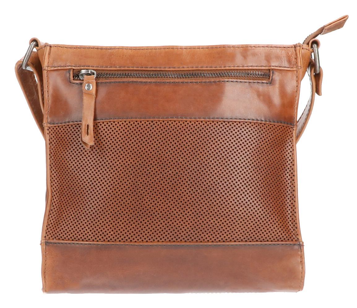 Leather Design Schoudertas DO20-1419 Tobacco