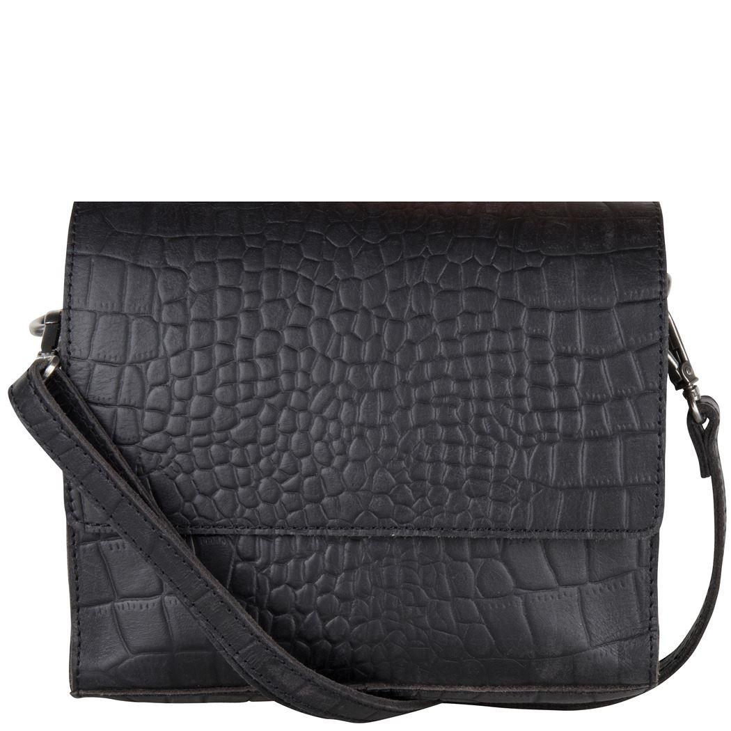 Cowboysbag x Bobbie Bodt, 3059 Bag Sapphire Croco Black