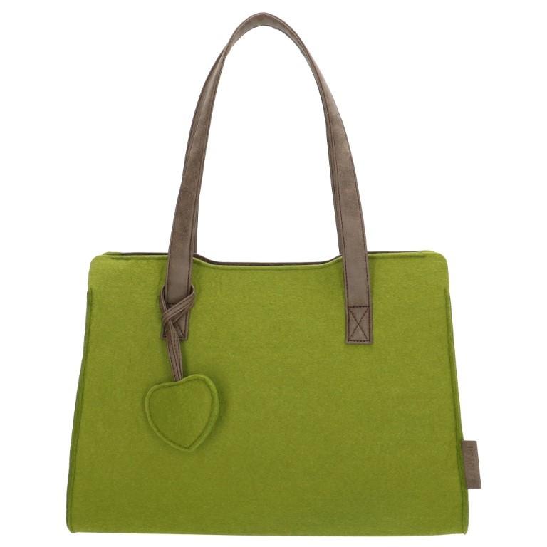 Beagles Vilten Dames Shopper 17537E Groen