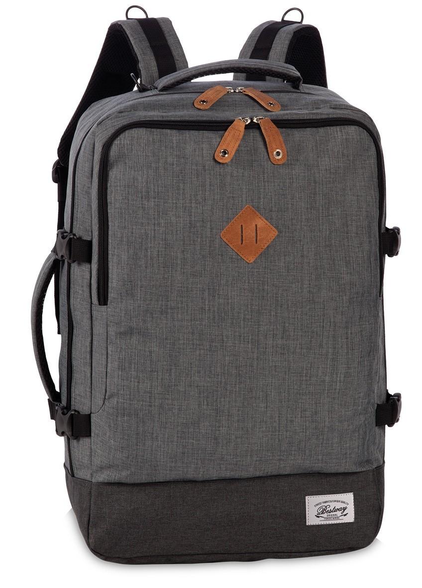 BestWay Handbagage Rugtas Capine Pro-Retro 40223 Donker Grijs