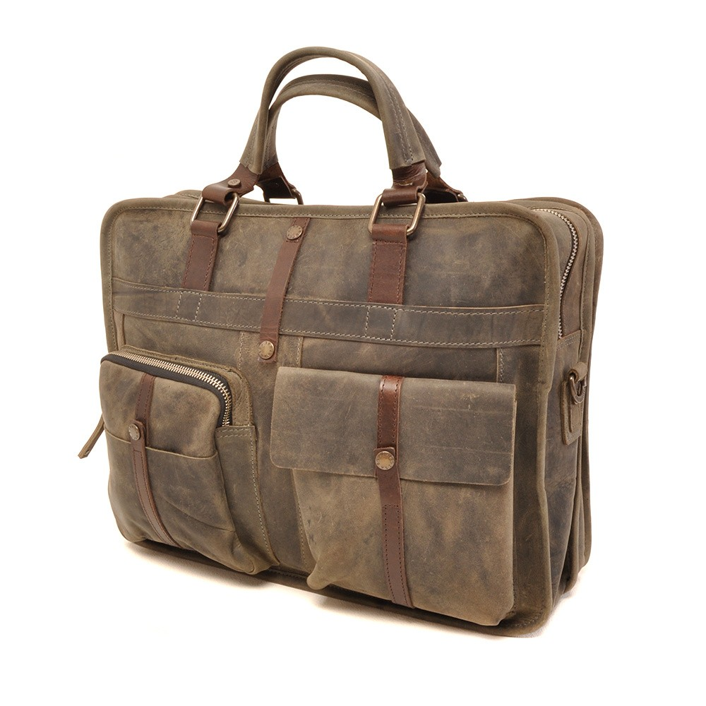 Barbarossa Ruvido 826-131 Double Section Businessbag Military