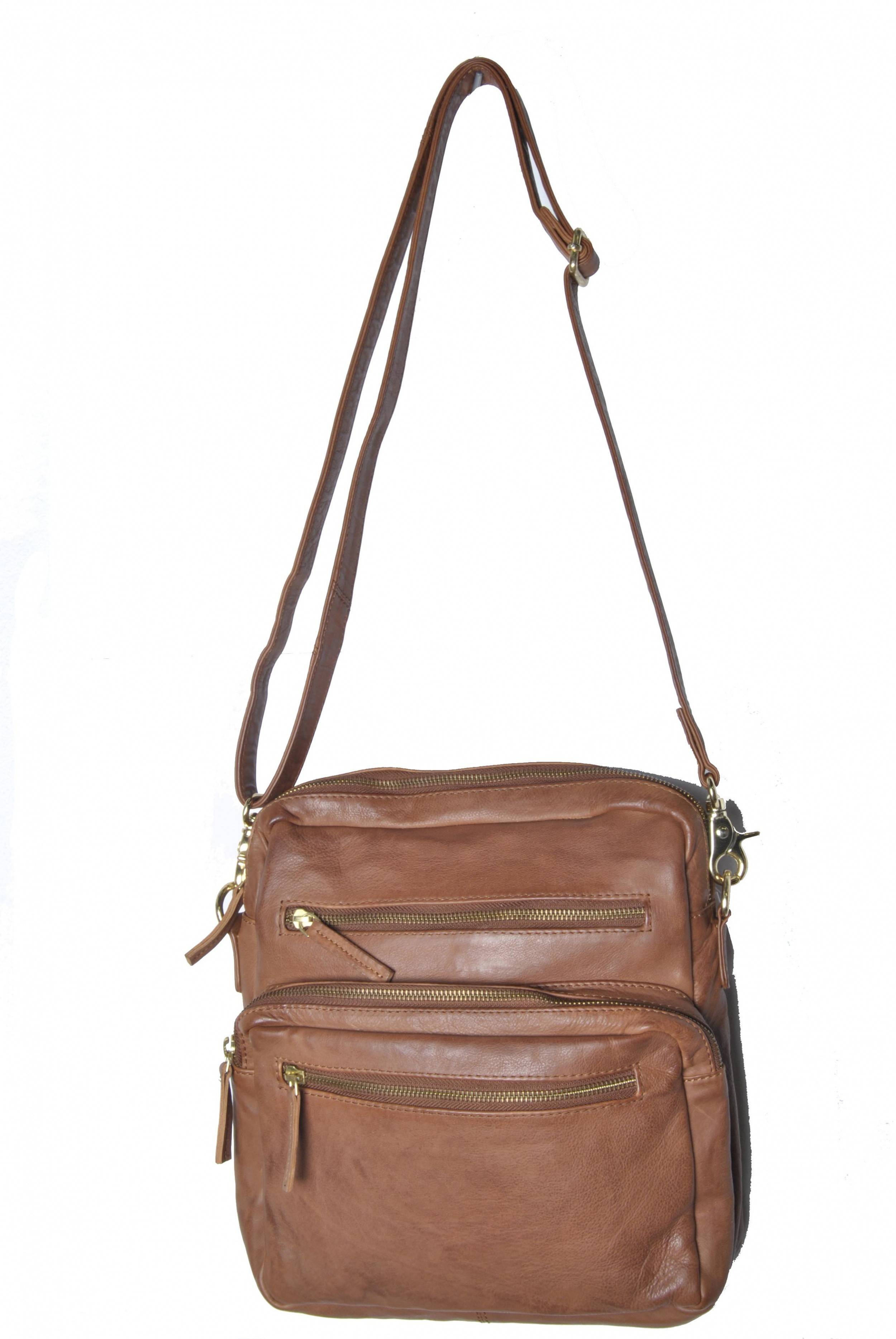 WouWou Messenger Bag 27012 Cognac