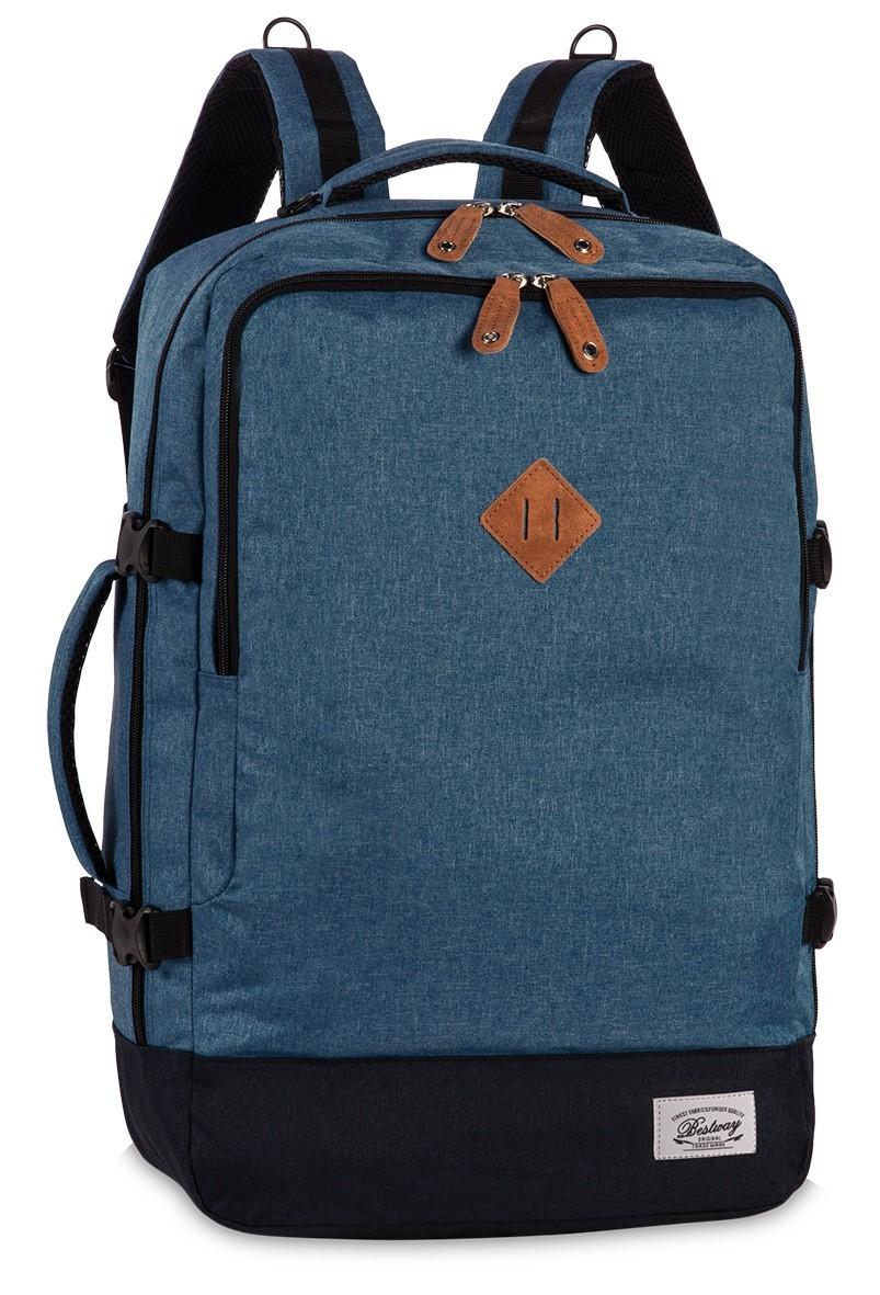 BestWay Handbagage Rugtas Capine Pro-Retro 40223 Grijs Blauw