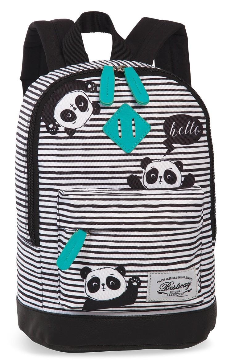 BestWay Kinderrugtas 40216 Zwart Turquoise Panda